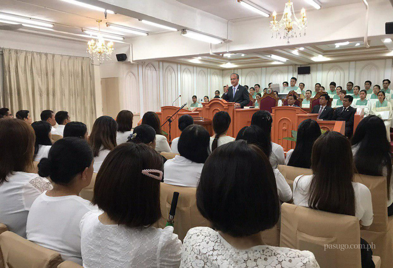 On July 21, 2019, choir members from the Ecclesiastical District of Macau were reminded the importance of singing praises to the Lord God, in line with celebrating the Church's 105th anniversary.