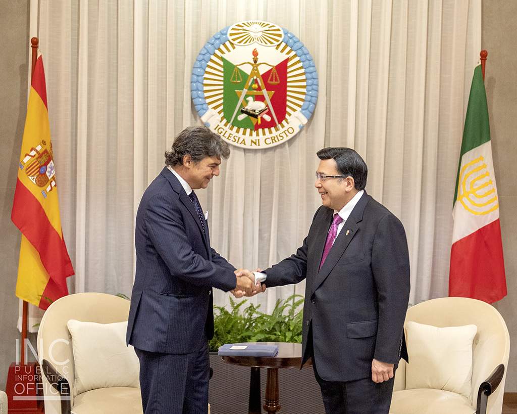Ambassador of Spain to the Philippines, H.E. Jorge Moragas Sanchez during his courtesy call on October 9, 2019 at the INC Museum in Quezon City.