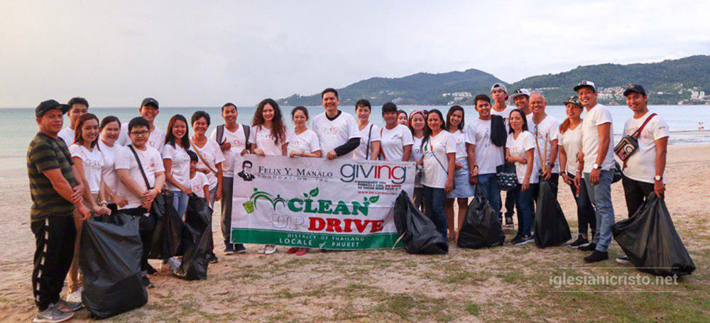 Brethren throughout the Ecclesiastical District of Thailand cleaned the coastal areas and shores of Pattaya and Phuket