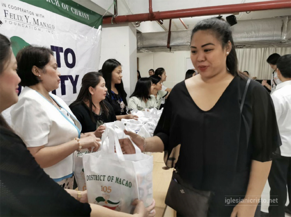 As Typhoon Wipha hit Macau, residents received goodwill packages on October 30 and 31, 2019