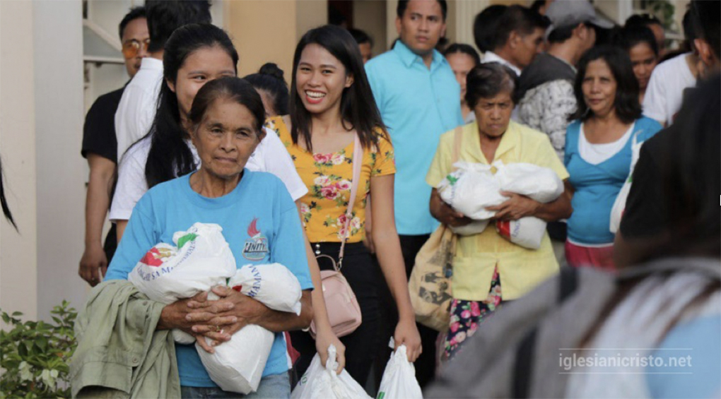 Residents from Magsaysay, Kinuskusan, and Bansalan, Davao del Sur, Philippines received goodwill bags on November 2 and 3, 2019 due to consecutive earthquakes in the province
