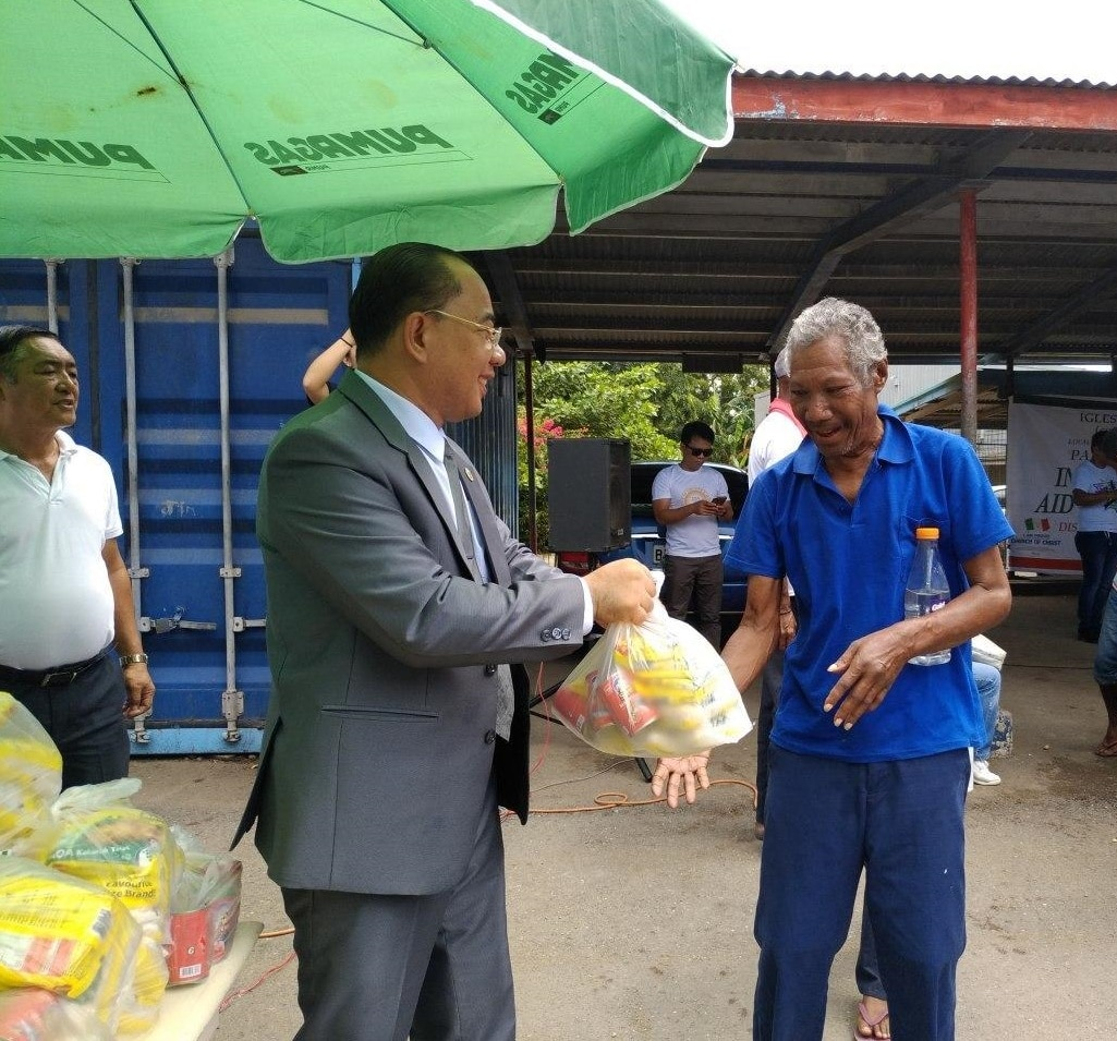 Port Moresby brethren give aid to law enforcers