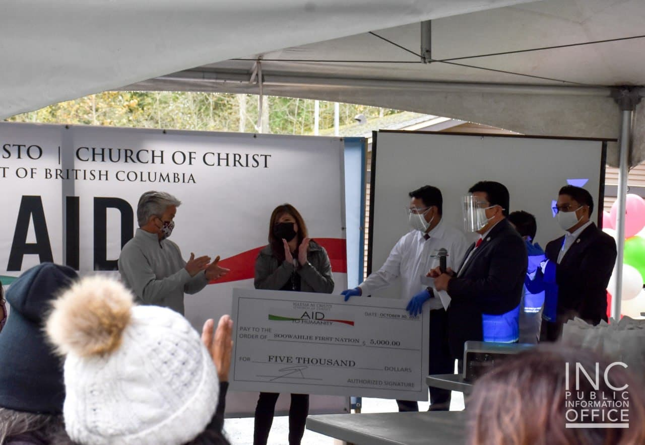 Int'l Church organization extends Helping Hand to Soowahlie First Nation in Canada
