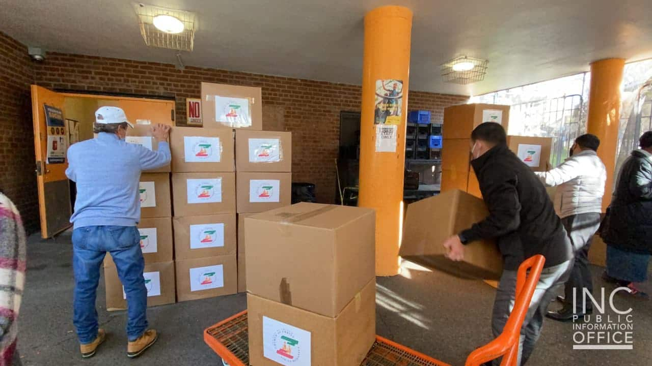 INC Gives Relief Packages in Queens, NY