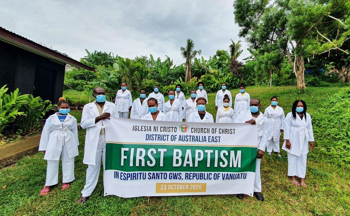 Espiritu Santo GWS holds first baptism