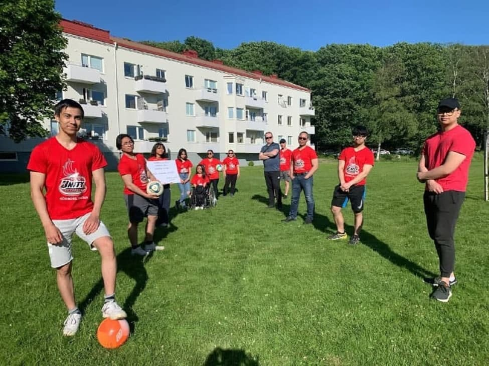 Gӧteborg youth meet for outdoor sports activity