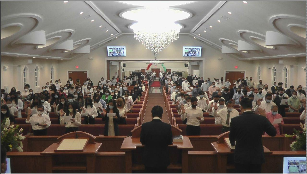 Mountain States District leadership sworns in additional Church officers