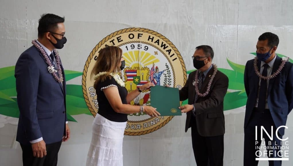 Hawaii State Legislature presents honorary certificate to Iglesia Ni Cristo (Church Of Christ) on its 107th Anniversary