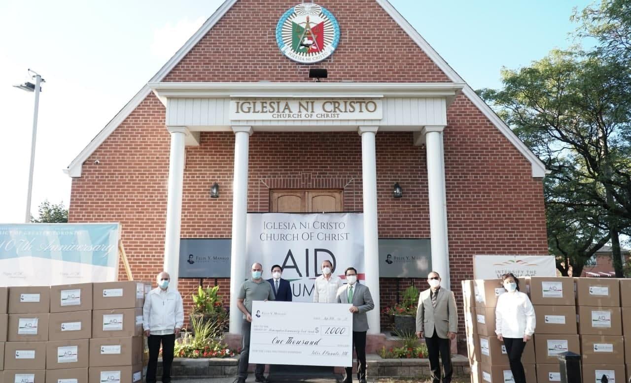 Iglesia Ni Cristo donates to Flemingdon Food Bank in Canada