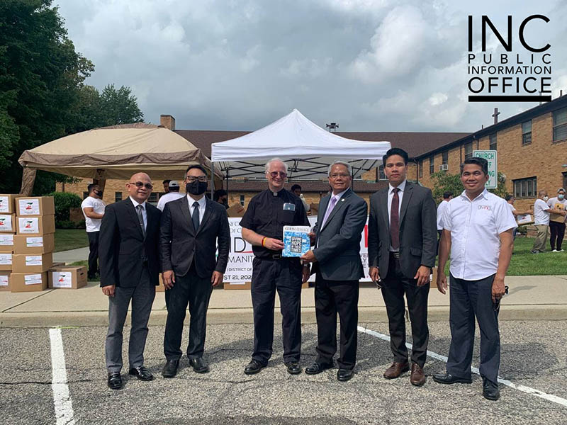Parish church in New Jersey receives food donations from Iglesia Ni Cristo (INC)