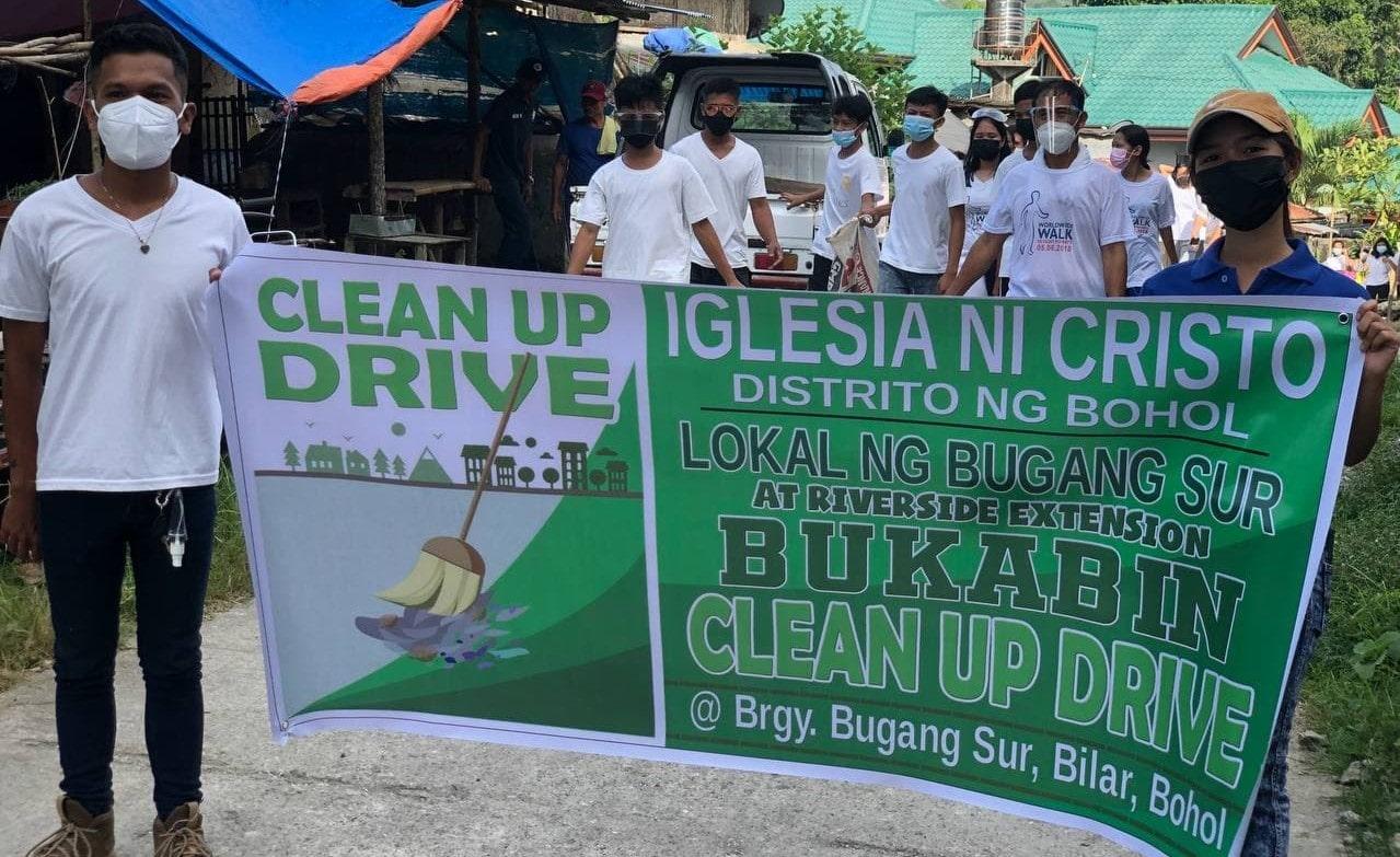 Bugang Sur Congregation cleans community's surroundings